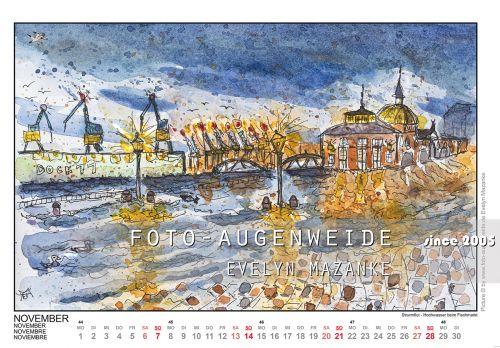 Hamburg Kalender 2021 - Sketchy Hamburg 2021 - Foto ...